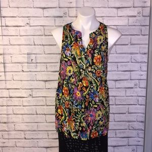 Cynthia Rowley floral sleeveless top